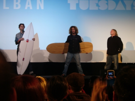 The Trivia Prize Surfboards, with Tom Wegener on Right