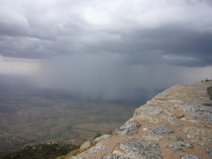Thunderstorm Sweeps the Sonoran Desert Below