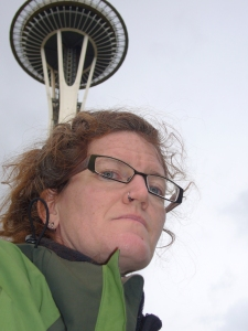 That is not a backdrop, it's the Real Space Needle!