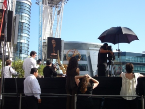 Cameramen and Attendant Crew at Emmy Awards Show 2009