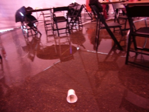 The Dining Tent's Flooded Floor